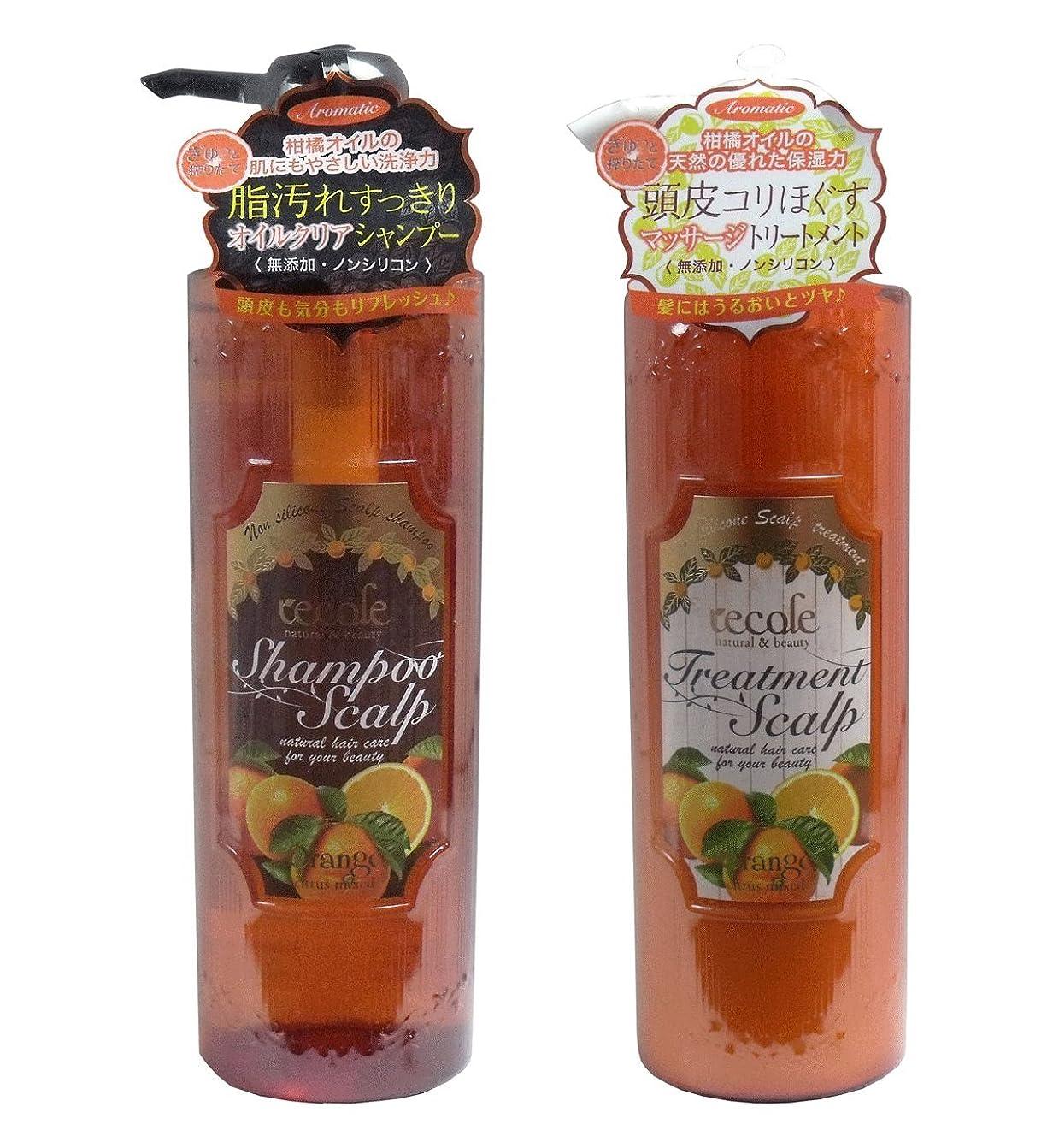 スタッフ後方にバングラデシュレコル ノンシリコンオイルクリア オレンジの香り シャンプー&トリートメントの2点セット(各500ml )