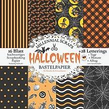 Halloween Bastelpapier – für Kinder & Erwachsene –: Scrapbooking Papier & Zubehör I Motivpapier zum Ausschneiden I Mit Let...