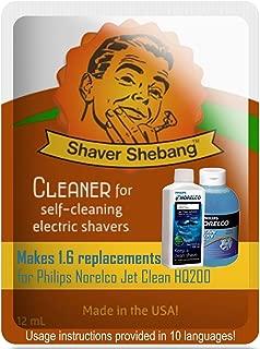 Equivalentes a 8 botellas de Philips Norelco Jet Clean Solution HQ200 - Menta eléctrica - 5 soluciones limpiadoras Shaver Shebang -