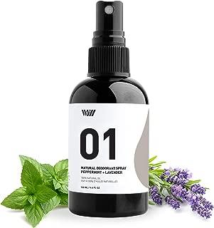 01 Natural Deodorant Spray, Aluminum Free Deodorant Spray, Organic Deodorant Spray for Men and Women, Non Toxic Deodorant (Peppermint Lavender) - Way of Will