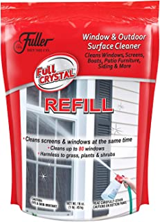 Full Crystal Refill Kit - 1 lb. Bag of Crystal Powder Exterior Window Cleaner for Glass and Screens (Cleans Up to 80 Windows)