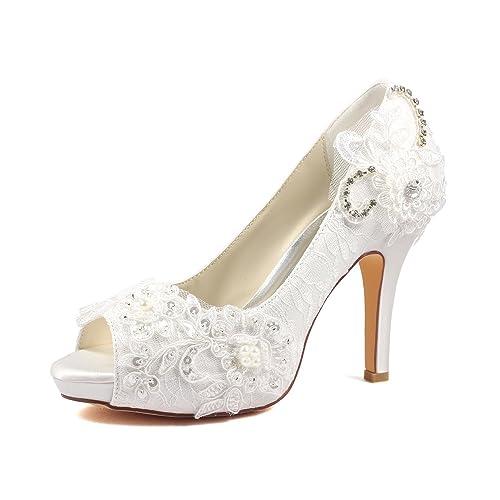 5e0256c3eca Ivory High Heels: Amazon.co.uk
