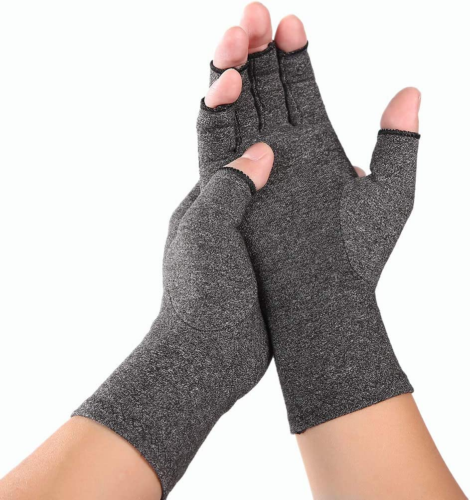 JHD Frauen M/änner Arthritis Kompressionshandschuhe Fingerlose Gelenkschmerzen Linderung Rheumatoide Arthrose Hand Handgelenk Unterst/ützung Therapie F/äustlinge