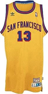 adidas Wilt Chamberlain Golden State Warriors Gold Throwback Swingman Jersey