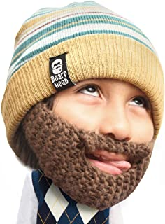 Beard Head Kid Roro Beard Beanie - Knit Hat and Fake Beard for Kids and Toddlers