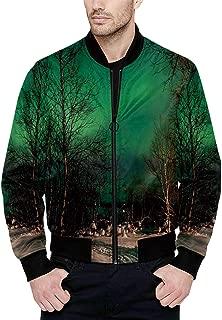 Hitecera Geometric Funny Bomber Jacket for Fashion XS