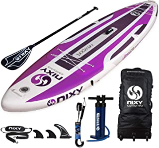 NIXY Newport Inflatable Stand Up Paddle Board. All Around Lightweight Premium SUP built with the Latest Dropstitch Technology. All Accessories included Paddle, Leash, Pump, Shoulder Strap, Carry Bag |