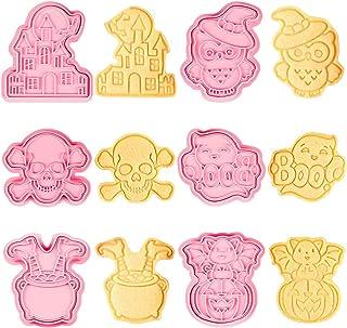 6PCS Emporte Pièce Halloween, Emporte Piece Patisserie, 3D Moule Biscuit, Emporte Piece Patisserie Plastique Enfant, Châte...