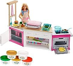 Barbie Quiero Ser Superchef, cocina con accesorios y muñeca (Mattel FRH73)
