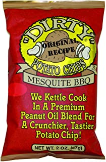 Dirty Potato Chips, Mesquite BBQ, 2 Ounce (Pack of 25)