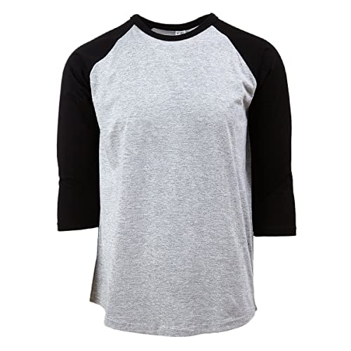 9152f49ed88 Casual 3 4 Sleeve Baseball T-Shirt Raglan Jersey Tee Unisex Men Women 10
