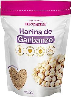 Morama, Harina de Garbanzo vegana ideal para cocinar recetas dulces o saladas, alta en proteína, 350 gramos