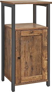 VASAGLE Armario de Almacenamiento Armario de 1 Puerta Estantería Multifuncional para Cocina Salón Dormitorio Baño Of...