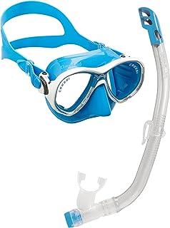 Cressi Set Marea VIP Jr Pack de Snorkel, niños, Transparente/Azul, 7-13 años