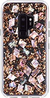 YXY·CF Samsung Galaxy S9 Plus Case - Real Mother of Pearl - Slim Protective Design for Samsung Galaxy S9 Plus - Mother of Pearl - Karat (Rose Gold)