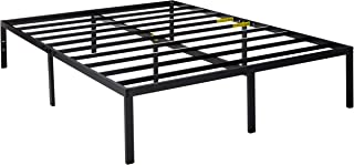 Zinus Yelena 14 Inch Classic Metal Platform Bed Frame with Steel Slat Support / Mattress..
