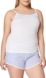 Iris & Lilly Camisola de algodón para Mujer, 2 Unidades Camiseta de Tirantes para Mujer