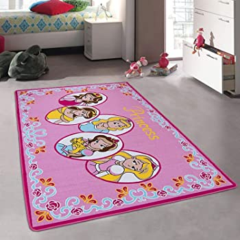 Kids Carpet Girls Bedroom, Designer Figure Children's Rugs Princess Tiara Crown Disney Style Bright Colorful Vibrant Colors (3 Feet X 5 Feet)