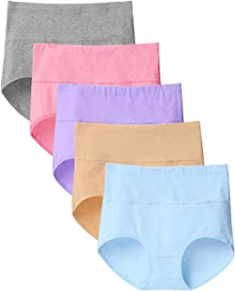Dreecyショーツ 綿 女性 パンツ下着 レディースショーツ ハイウエスト 通気性 伸縮性 女性美形ショーツ ヒップショーツ 大きサイズ