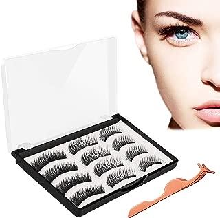 Magnetic Eyelashes, JDO Upgraded Magnetic Lashes(12PCS), Reusable Handmade False Eyelashes No Irritation No Allergy 3 Styles Eyelashes with Applicator