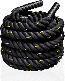 Meteor Battling Ropes, 38mm Diameter in 9, 12, 15 Meters Length, Exercise Equipment for Home Gym Exercise & Outdoor Workou...