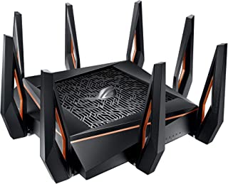 ROG Rapture GT-AX11000, AX11000 Tri-band WiFi 6 (802.11ax) Gaming Router –World's first 10 Gigabit Wi-Fi router with a qua...