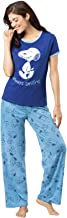 PajamaGram Cute Pajamas for Women - Fun Pajamas for Women, Snoopy, Blue