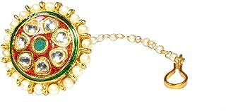 Frolics India Designer Kudan Style Rajasthani Borla (Mangtikka) For Girls and Women