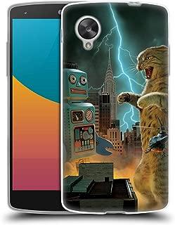 Official Vincent HIE Catzilla VS Robot Felidae Soft Gel Case Compatible for LG Nexus 5