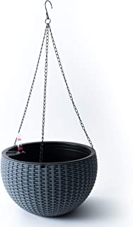 Self-Watering Hanging Planter for Outdoor & Indoor Decor - Create Your Flower, Succulent, or Herb Garden in This Elegant Round Plastic Basket Plant Pot for Any Location