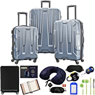 102691-1101 Centric 3pc Nested Hardside 20/24/28 Luggage Set - Blue Slate Bundle w/Deco Gear...