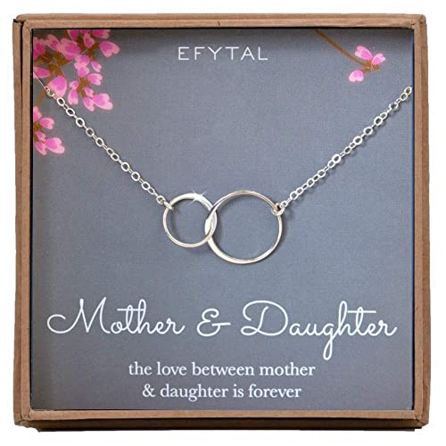 EFYTAL Mother Daughter Necklace