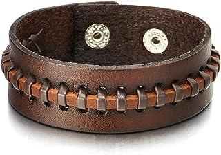 Lederarmband  Weiss Verzierungen Armband mit  Druckknöpfen  Nr.2