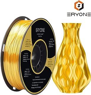 PLA Filament 1.75mmm, Silk Gold PLA, ERYONE Silk PLA, 3D Printing Filament PLA for 3D Printer and 3D Pen, 1kg 1spool