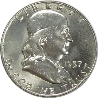 1957 D Franklin Silver Half Dollar 50C Uncirculated