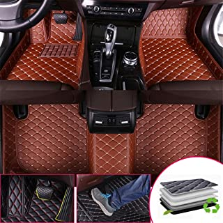 Custom Car Floor Mats for M ercedes B ENZ GLE Class 350 450 320 400 500 New Energy 2016-2017 Full Surrounded Protection Luxury Leather Material Wear Resistant Car mat Carpet Liners Brown