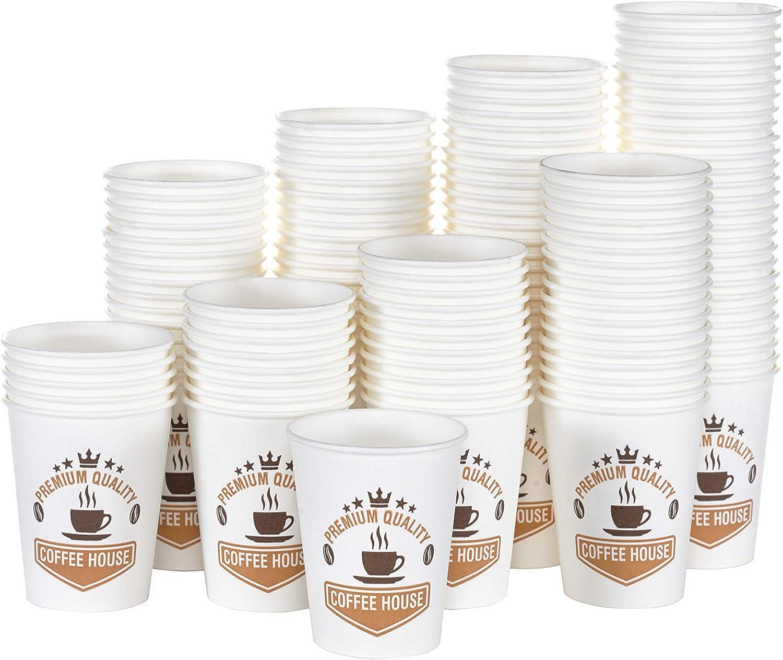 YNS, 400 Vasos de cartón ecológico y Desechables, 4 Onzas,Resistentes al Calor para Bebidas frías y Calientes, Ideal para café, té, cumpleaños, cócteles, Fiestas, etc