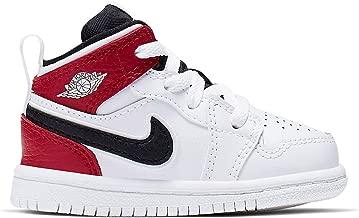 Jordan 640735-116: Toddler's 1 Mid White/Black/Gym Red Sneakers