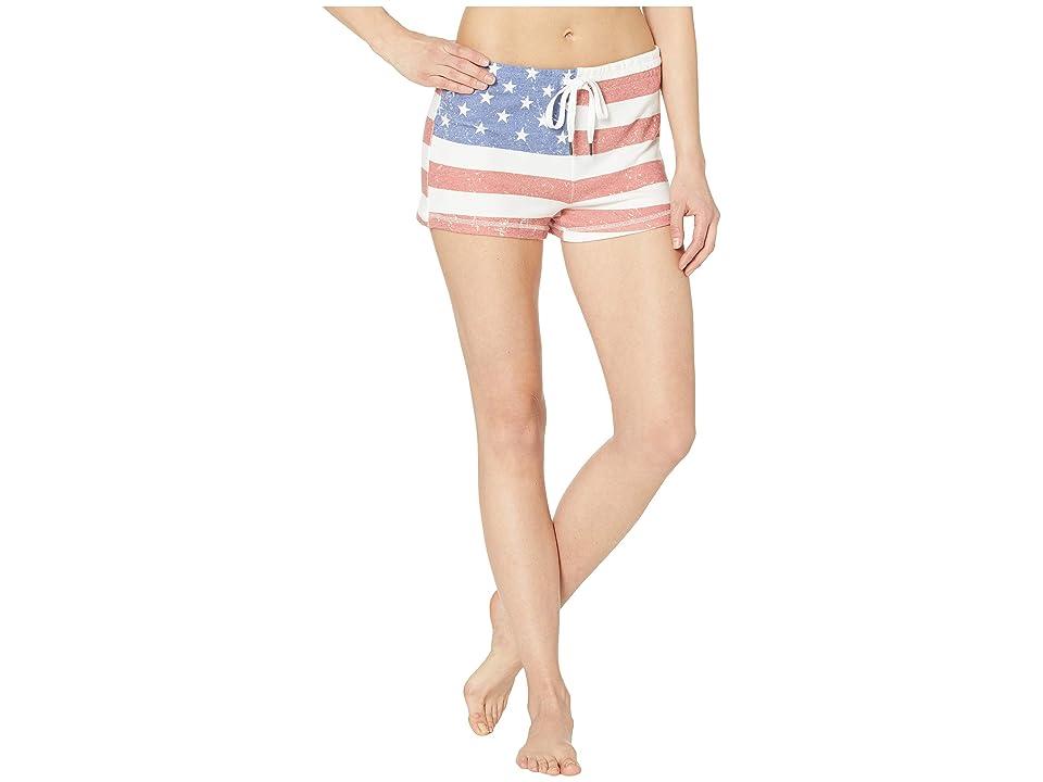 P.J. Salvage USA Flag Shorts (Red) Women
