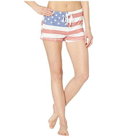 P.J. Salvage USA Flag Shorts (Red) Women