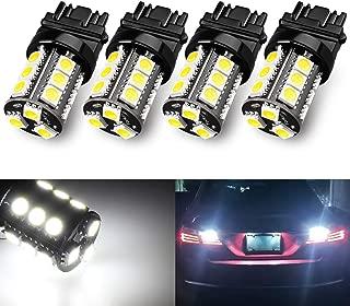 Yorkim Super Bright 3157 LED Light Bulbs White Pack of 4, 3157 LED Brake Lights, 3157 LED Backup Reverse Lights, 3156 LED Reverse Tail Lights- 3056 3156 3057 3157 4157 LED Bulbs
