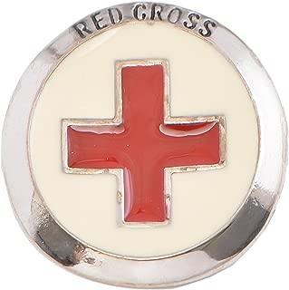 SpinningDaisy Red Cross Brooch Pin