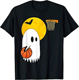 Ghost Basketball Player Sports Lovers Halloween Costume Gift T-Shirt