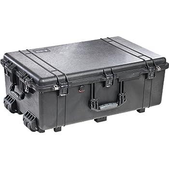 Black Pelican 1650 No Foam - Empty. Case Comes with Wheels.