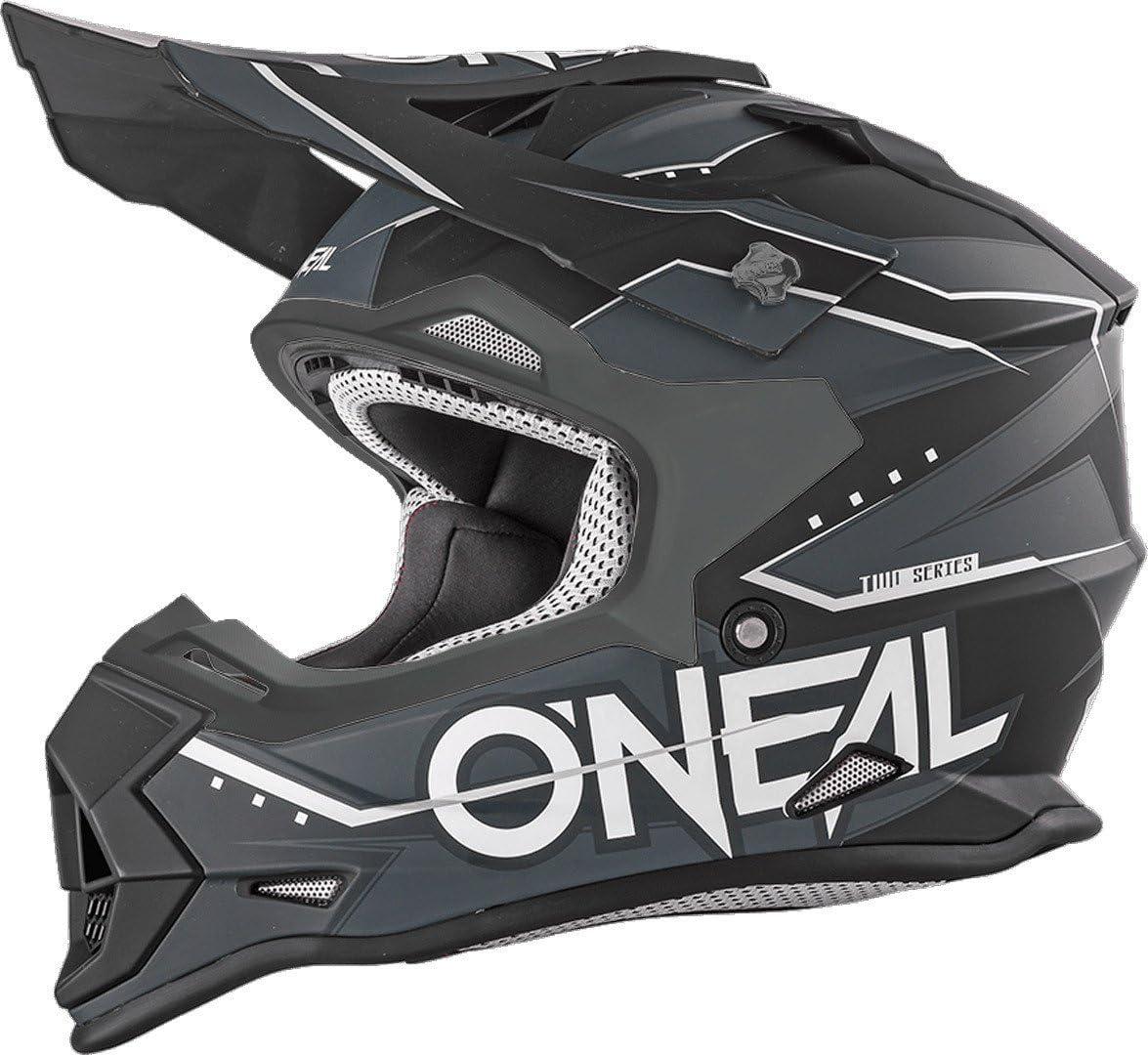 O Neal 2 Series Slingshot Youth Kinder Motocross Enduro Mtb Helm Blau Schwarz Weiß 2018 Oneal Größe S 49 50 Cm Auto