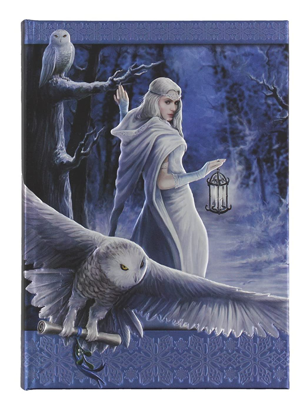 Anne Stoke Curiosity Corner Midnight Messenger with Owl Embossed Journal
