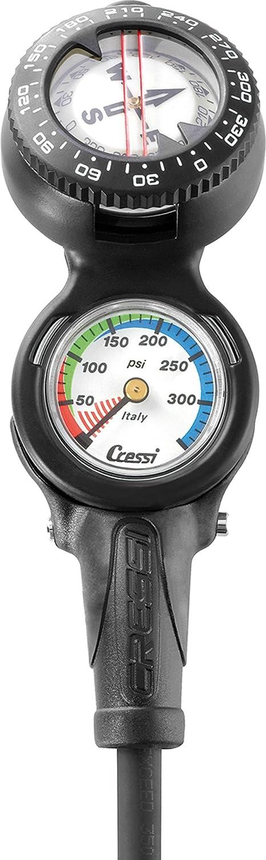 Cressi Superlatite Console CP2 - Pressure Elegant Gauge for Diving Compass Scuba +