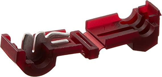 Install Bay RTT Red Insultion Displacement T-Tap Connector 22-18 Gauge - 100 Pack