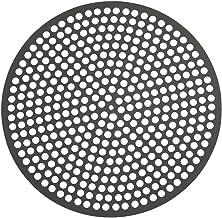 LloydPans Lloyd Pans 12 inch, Pre-Seasoned PSTK, Perforated Made in the U Pizza Quik Disk, Dark Gray