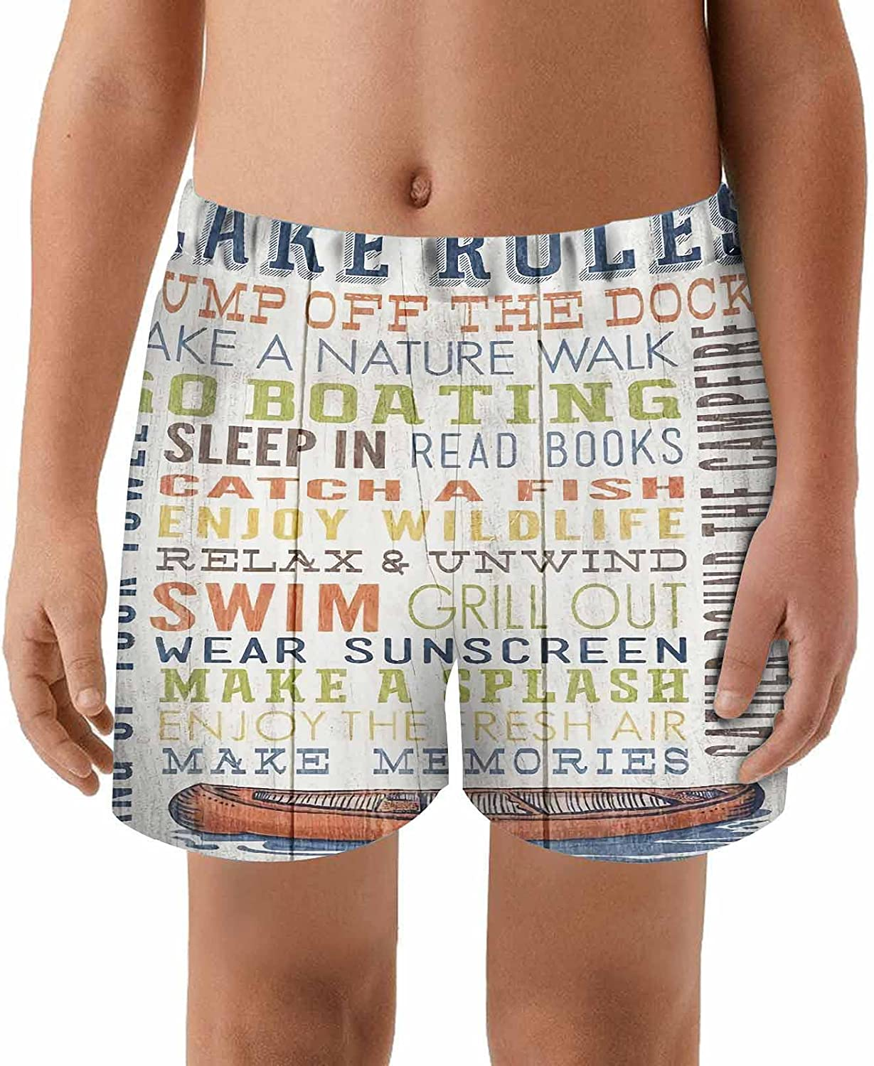 WONDERTIFY 40% OFF Cheap Sale Lake Rules Kids Swim Trunks Off Dock Lowest price challenge Toddler Bea Jump